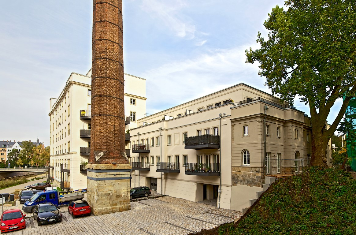 Industriedenkmal Bienertmühle Bauabschnitt III  /  2016 – 11 WE mit ca. 61 – 102m²
